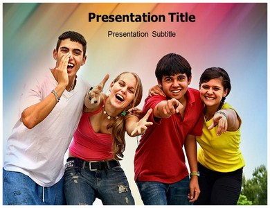 Youth Violence Powerpoint Templates