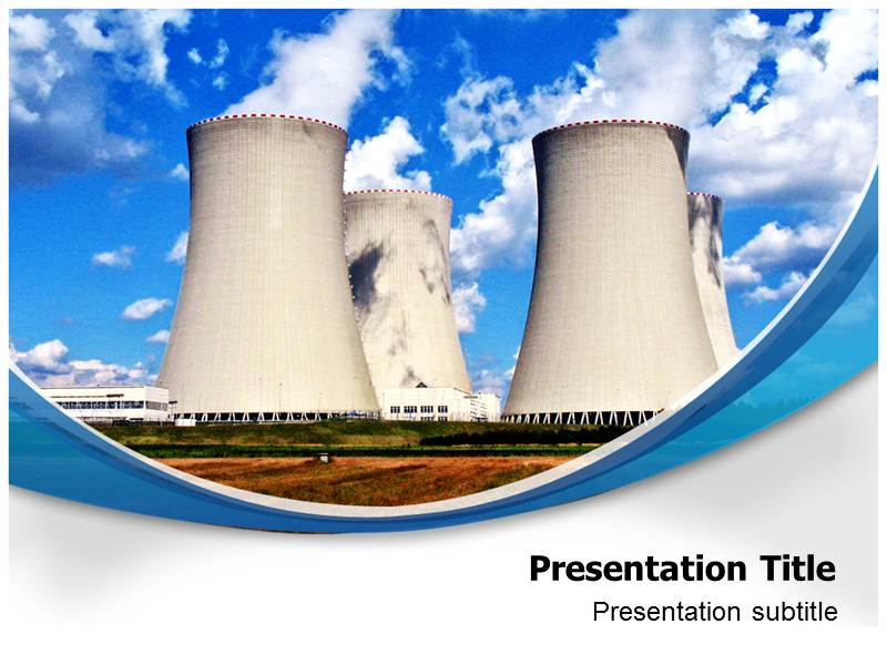 nuclear industry (ppt)powerpoint template | nuclear powerpoint, Powerpoint templates