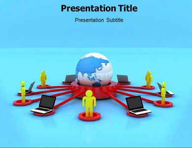 Communication Cycle Powerpoint Templates