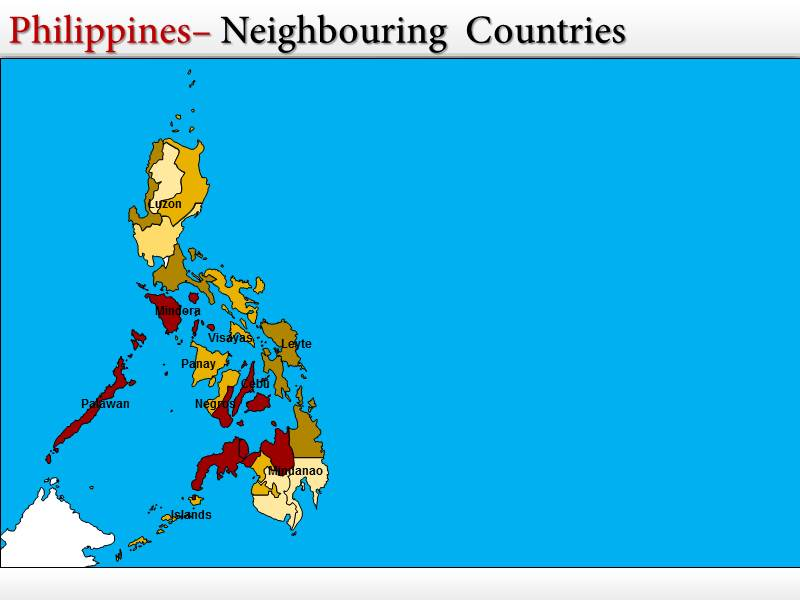 map of philippines powerpoint  ppt  templates