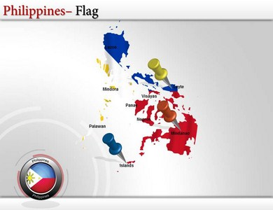 Map of philippines powerpoint ppt templates philippines map download all slides 6999 toneelgroepblik Images