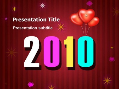 New Year  Celebration Powerpoint Templates
