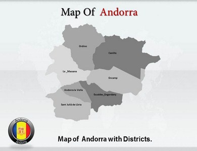 Andorra Maps  PowerPoint Templates