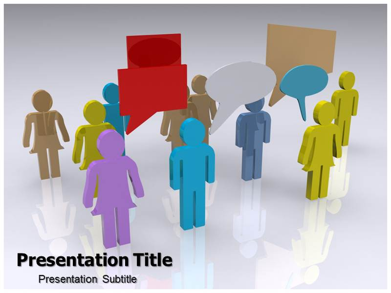 Blog Chat Powerpoint Templates