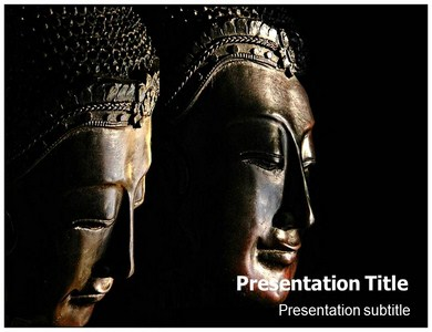 Buddhism Followers Powerpoint Templates