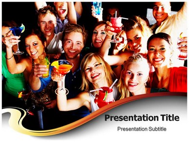 Cocktail party Powerpoint Templates