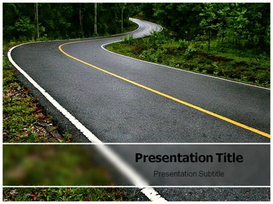 Road winding Images Powerpoint Templates
