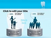 Teeth Chattering powerpoint theme templates