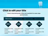 Teeth Chattering backgroundPowerPoint Templates