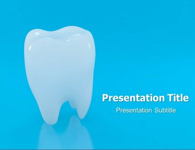 Teeth Chattering PowerPoint Template, Template PowerPoint