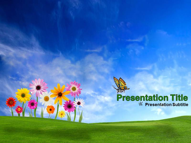 Nature powerpointppt templates powerpoint template for nature my toneelgroepblik Choice Image