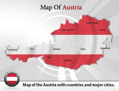 Map of Austria  PowerPoint Templates