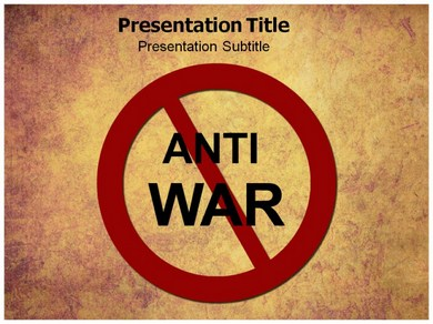 Anti war Powerpoint Templates