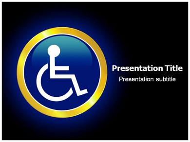 Reserved Handicapped Seat Powerpoint Templates