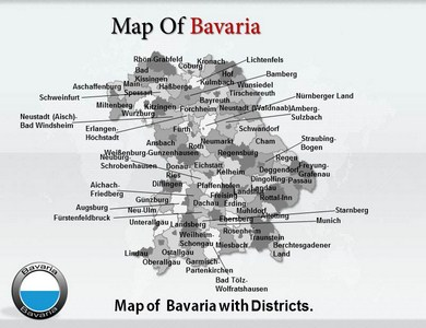 Bavaria Maps Powerpoint Templates