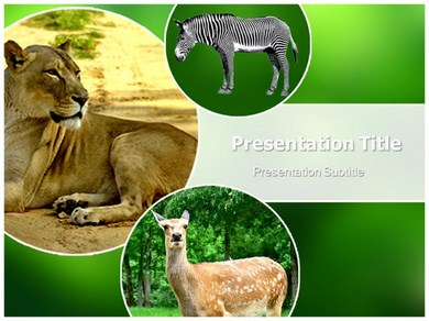 animals Powerpoint Templates Powerpoint Presentation On zoo animals c0vbISPM