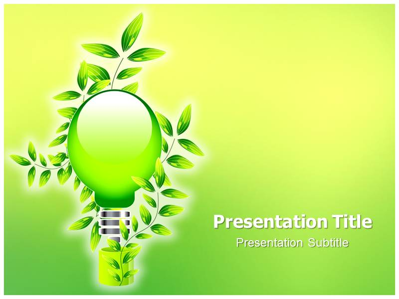 go green powerpoint template | leaf powerpoint template | free go, Powerpoint templates