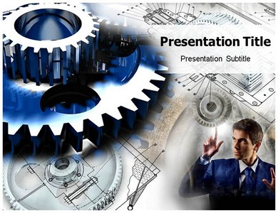 Gear 2 Powerpoint Templates