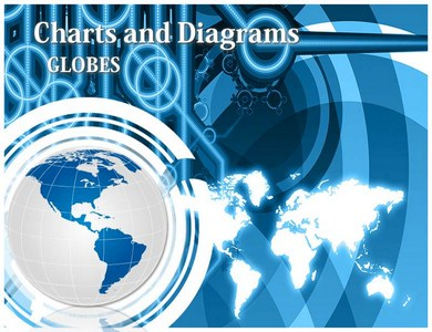 Globe Chart Powerpoint Templates