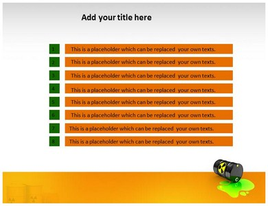 Radioactive Waste Management Powerpoint Templates