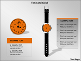 Time And Clock power Point templates