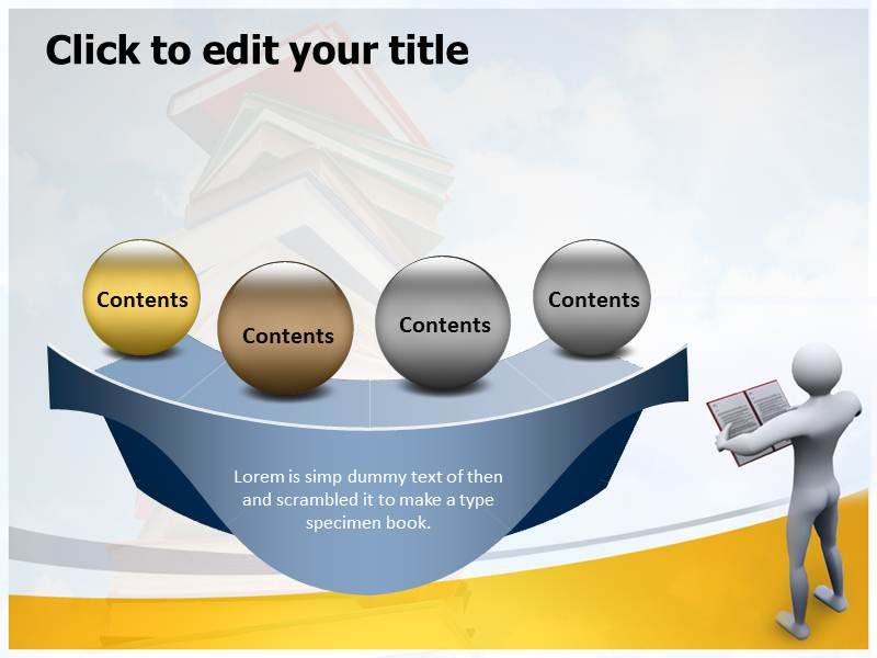 Reading Book Images Powerpoint Templates