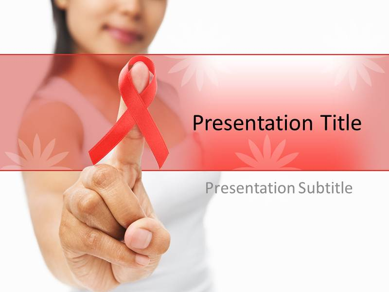 Cancer and hiv powerpoint ppt templates powerpoint template for my toneelgroepblik Choice Image