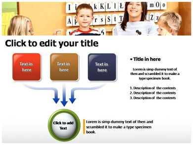 Kids School Powerpoint Templates