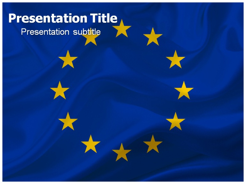 European flag powerpoint ppt template template on flag of my toneelgroepblik Gallery