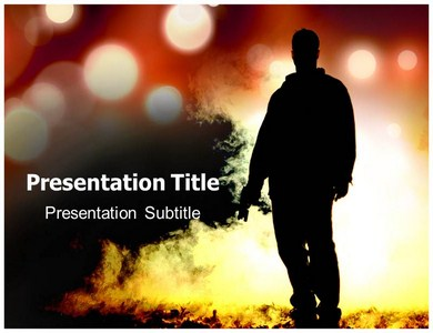 Man in Shade  Powerpoint Templates