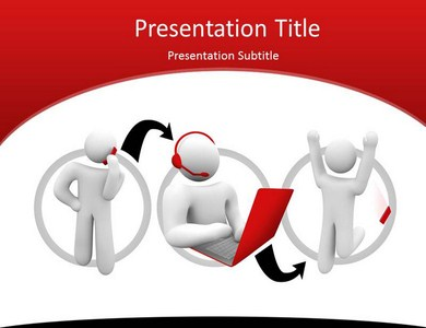 customer support powerpoint templates | customer support ppt, Presentation templates