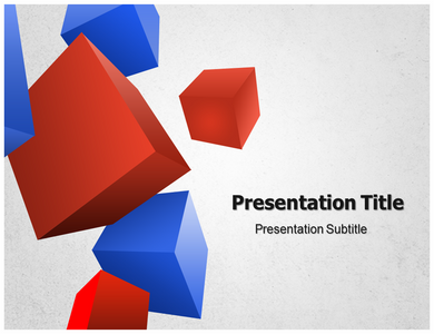 3D Geometric Powerpoint Templates