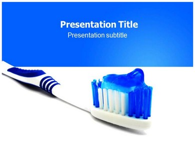 Toothbrush 1 Powerpoint Templates