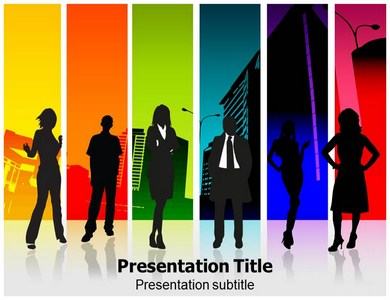 People of Business Powerpoint Templates