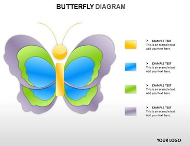 Butterfly Diagram Powerpoint Templates