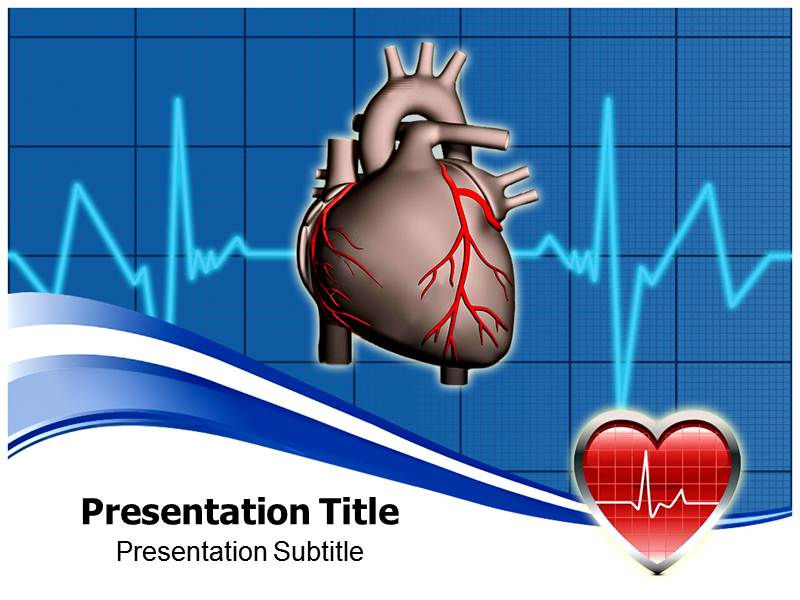 cardiology awareness powerpoint template with niche ppt background, Modern powerpoint
