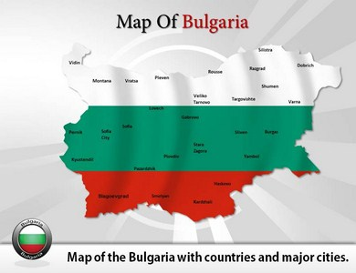 Map of Bulgaria  PowerPoint Templates