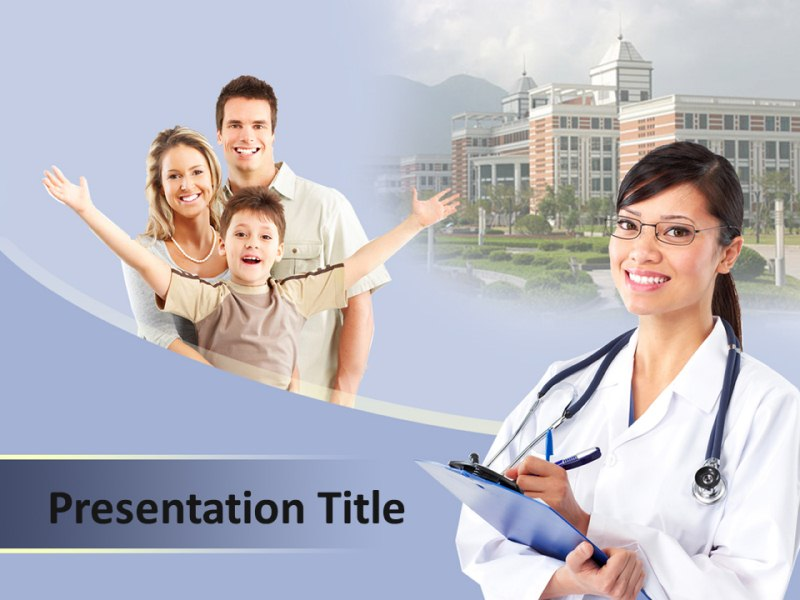 Family Doctor Help Powerpoint Templates