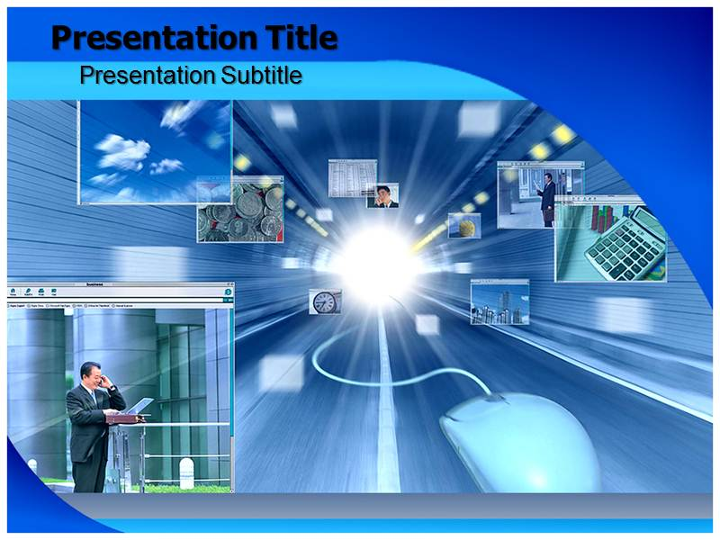 E Business Tecnology Templates For Powerpoint