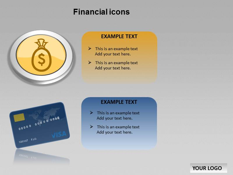 Financial Icons Chart Powerpoint Templates
