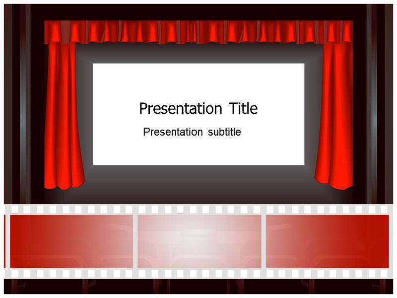 Cinema Icons Powerpoint Templates Cinema Ppt Templates Cinema
