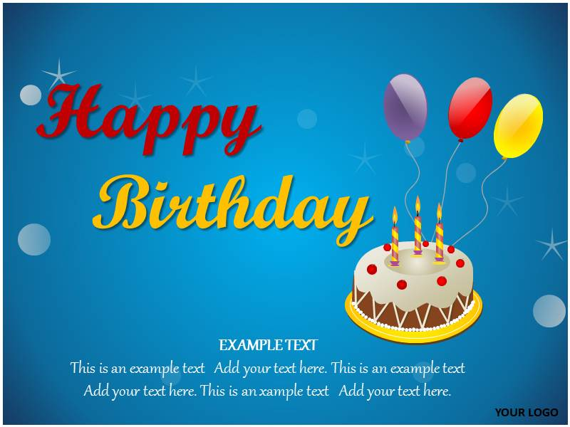 happy birthday powerpoint template | happy birthday ppt slides, Powerpoint templates