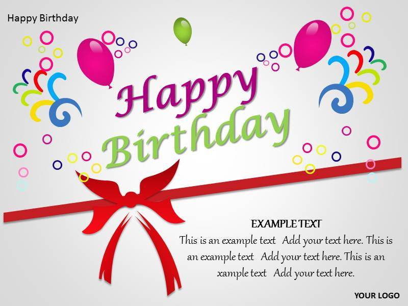 Happy Birthday Powerpoint Template | Happy Birthday PPT ...