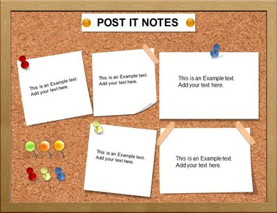 Post IT Note Charts PowerPoint Template, Charts Post IT Note Slide ...