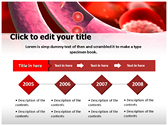 Blood Cells Platelets background PowerPoint Templates