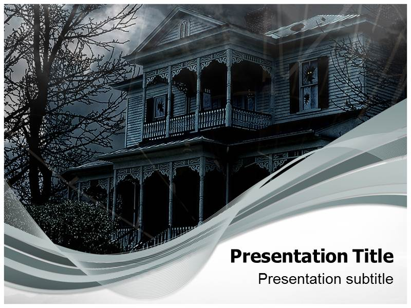 scary powerpoint (ppt) templates | scary home powerpoint templates, Modern powerpoint