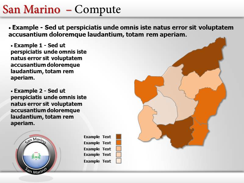 Map of San Marino  PowerPoint Templates