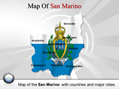 Map of San Marino  powerPoint template