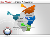 Map of San Marino  powerpoint template download