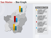 Map of San Marino  slides for powerpoint